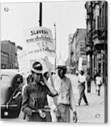 Chicago Protest, 1941 Acrylic Print