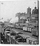Chicago Railroads, C1893 Acrylic Print