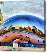 Chicago Reflected Acrylic Print by Jeff Kolker