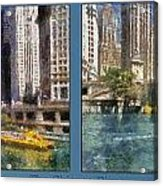 Chicago River 2 Panel Acrylic Print