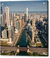 Chicago River Aloft Acrylic Print