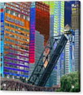 Chicago River Architecture Acrylic Print
