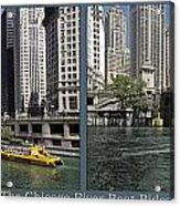 Chicago River Boat Rides 2 Panel Acrylic Print