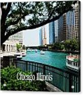 Chicago River Front Acrylic Print