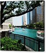 Chicago River Scene Acrylic Print
