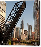 Chicago River Traffic Acrylic Print