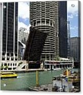 Chicago River Walk Construction Acrylic Print