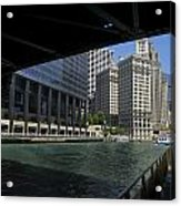 Chicago River Walk Going East 02 Acrylic Print