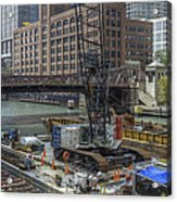 Chicago- Riverwalk Construction Acrylic Print