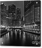 Chicago Riverwalk Acrylic Print by Eddie Yerkish