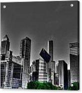 Chicago Skyline 1 Bwc Acrylic Print