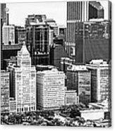 Chicago Skyline Aerial Panorama Photo Acrylic Print