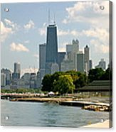 Chicago Skyline And Lakefront Acrylic Print