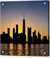 Chicago Skyline At Dusk Acrylic Print