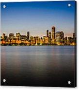 Chicago Skyline At Sunset Acrylic Print