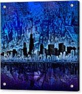 Chicago Skyline Blue Version Acrylic Print