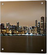 Chicago Skyline - Fog Rolling In Acrylic Print