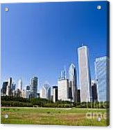 Chicago Skyline From Grant Park Acrylic Print