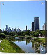 Chicago Skyline From Lincoln Park Zoo Acrylic Print