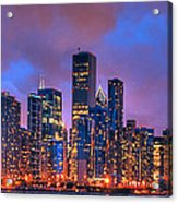 Chicago Skyline From Navy Pier View 2 Acrylic Print