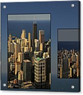 Chicago Skyline From Willis Tower Acrylic Print by Christine Till