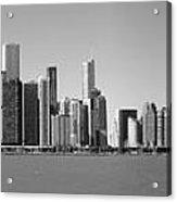 Chicago Skyline In Shades Of Grey Acrylic Print