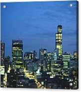 Chicago Skyline May 1983 Twilight Acrylic Print
