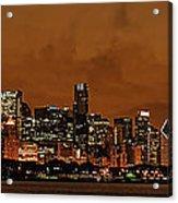 Chicago Skyline Panorama At Dusk Acrylic Print