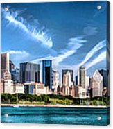 Chicago Skyline Panorama Acrylic Print