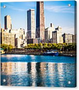 Chicago Skyline Picture With Hancock Building Acrylic Print