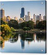 Chicago Skyline Reflection Acrylic Print