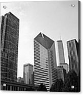 Chicago Skyscrapers Acrylic Print by Mike Maher
