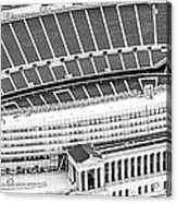 Chicago Soldier Field Aerial Panorama Photo Acrylic Print
