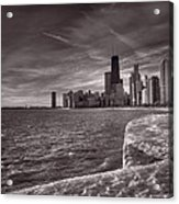 Chicago Sunrise Bw Acrylic Print