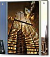 Chicago Tall Shoulders Trump Sears 333 W Wacker Triptych 3 Panel 01 Acrylic Print