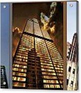 Chicago Tall Shoulders Trump Sears Tribune Triptych 3 Panel 01 Acrylic Print