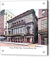 Chicago - The Illinois Theatre - East Jackson Boulevard - 1910 Acrylic Print