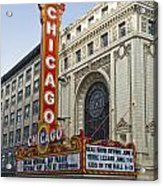 Chicago Theater Facade Southside Acrylic Print