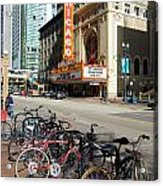 Chicago Theater Marquee Sign On State Street Acrylic Print