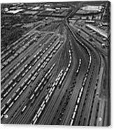 Chicago Transportation 02 Black And White Acrylic Print