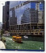 Chicago Transportation Triptych 3 Panel Hdr 01 Acrylic Print