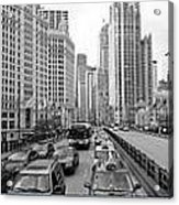 Chicago Triptych 3 Panel Black And White Acrylic Print