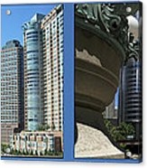 Chicago Trump Tower Under Const 2 Panel Acrylic Print