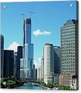 Chicago Trump Tower Under Construction Acrylic Print