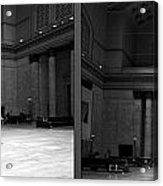 Chicago Union Station The Great Hall 2 Panel Bw Acrylic Print