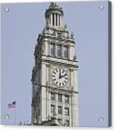 Chicago Wrigley Clock Tower Acrylic Print