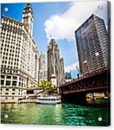 Chicago Wrigley Tribune Equitable Buildings Photo Acrylic Print