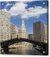 Chicagobridge Up Acrylic Print