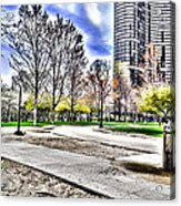 Chicago's Jane Addams Memorial Park From The Series The Imprint Of Man In Nature Acrylic Print