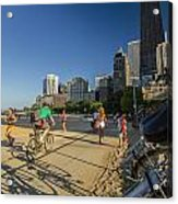 Chicago's Lakefront Bike Path On A Summer Evening Acrylic Print